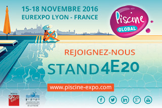 Retrouvez-nous au salon Piscine Global 2016